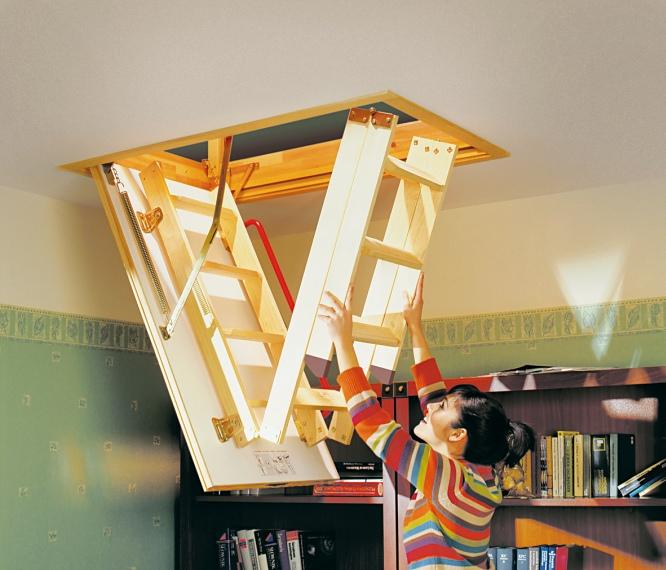 Лестница чердачная своими руками фото