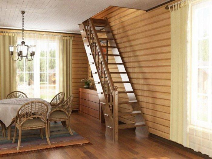 Как построить в доме лестницу на второй этаж своими руками из
