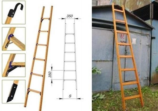 Как сделать приставную лестницу для