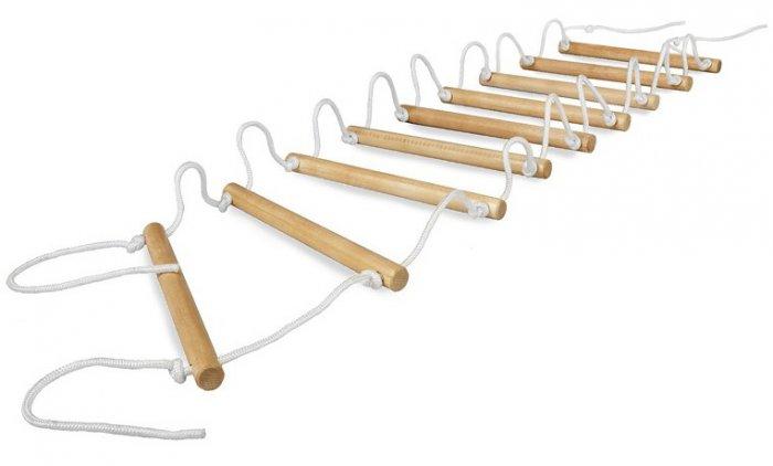 Как сделать канатную лестницу своими руками